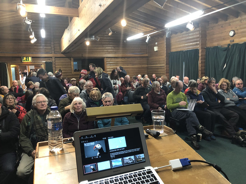 Photographic Farne Islands talk at the North West Bird Watching Festival, WWT Martin Mere - Alan Hewitt Photography