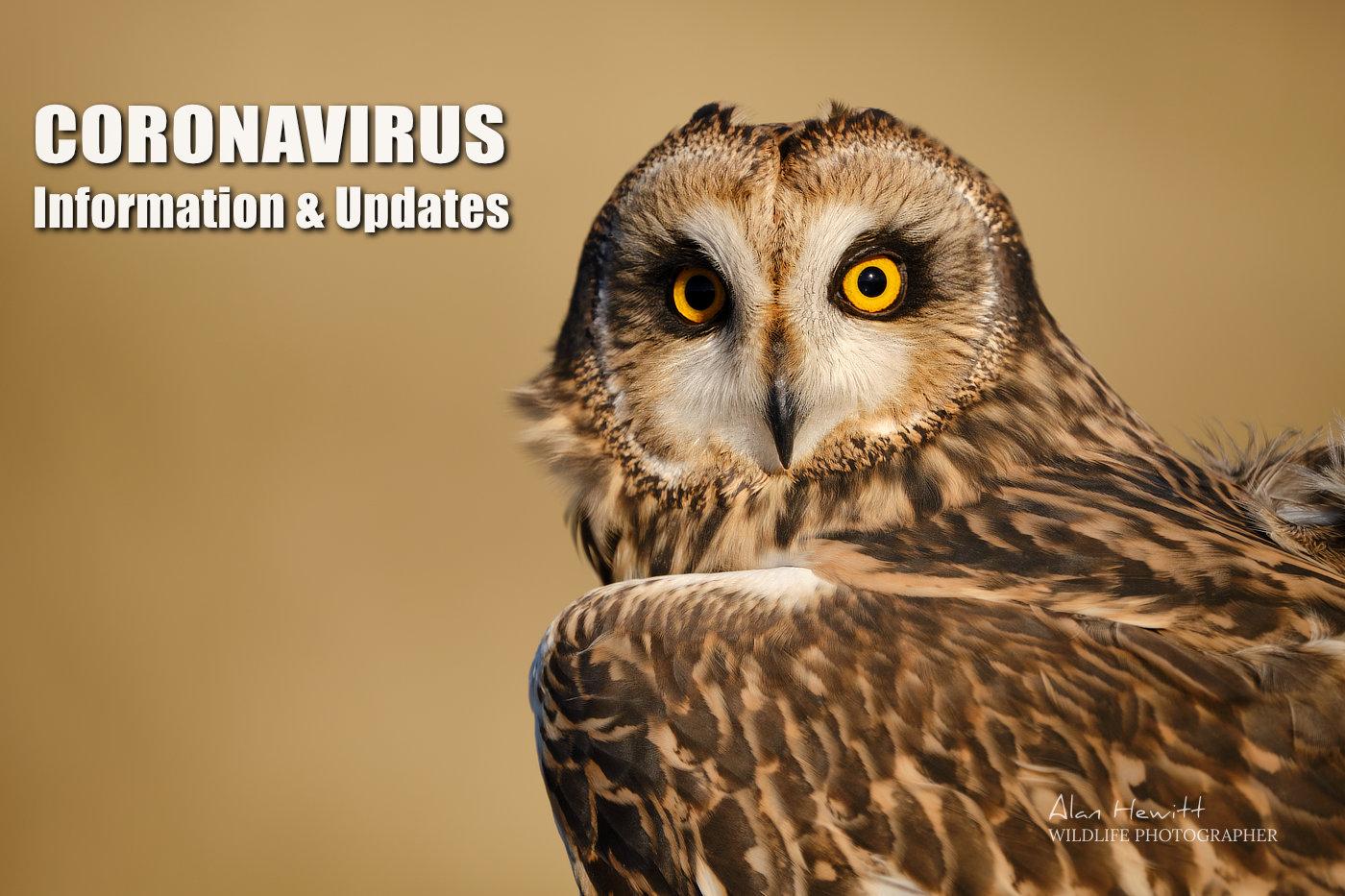 Alan Hewitt Photography Coronavirus Information and Updates